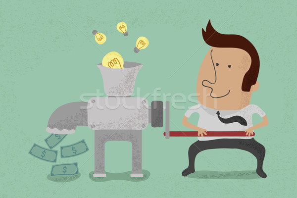 Idea is equal to money , eps10 vector format Stock photo © ratch0013