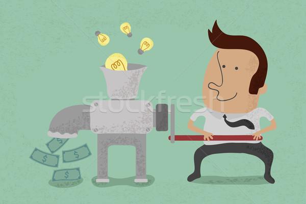 Idée égal argent eps10 vecteur format Photo stock © ratch0013