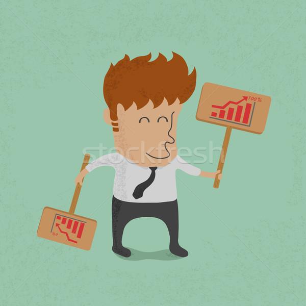 Hombre de negocios etiqueta eps10 vector formato papel Foto stock © ratch0013