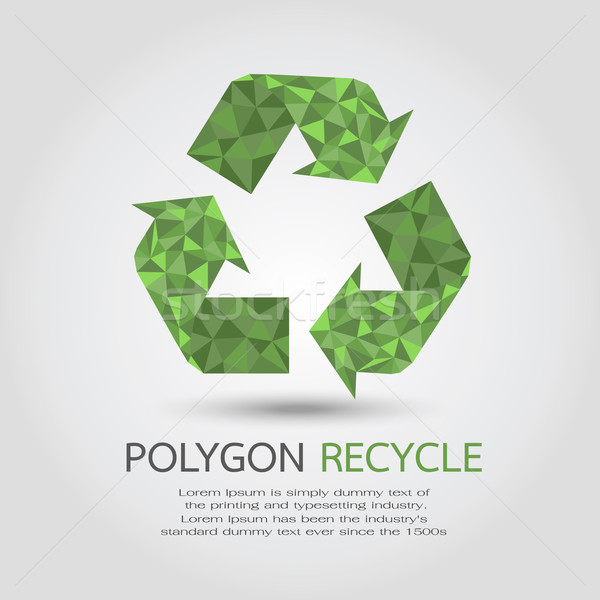 Recycle Symbol , eps10 vector format Stock photo © ratch0013