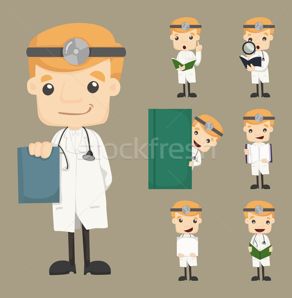 Set of doctor characters poses Stock photo © ratch0013