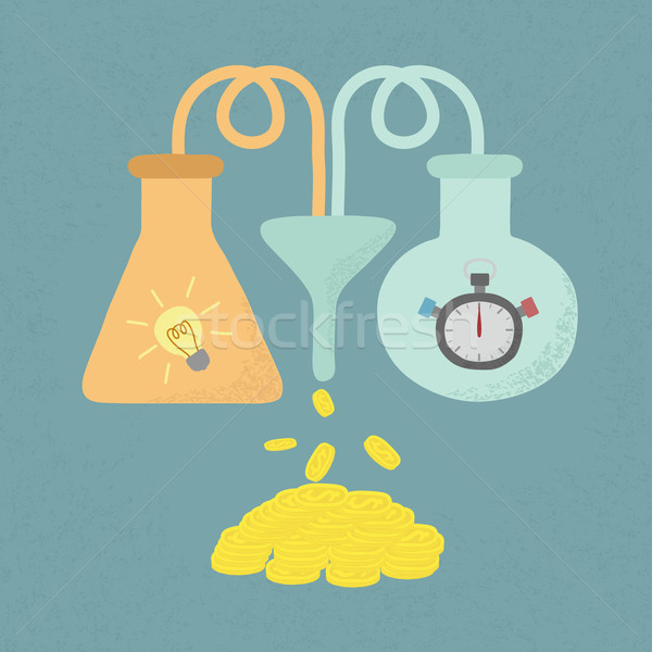 Time + Idea = Money , eps10 vector format Stock photo © ratch0013