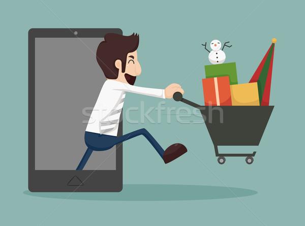Businessman online shopping, e-commerce concept  Stock photo © ratch0013