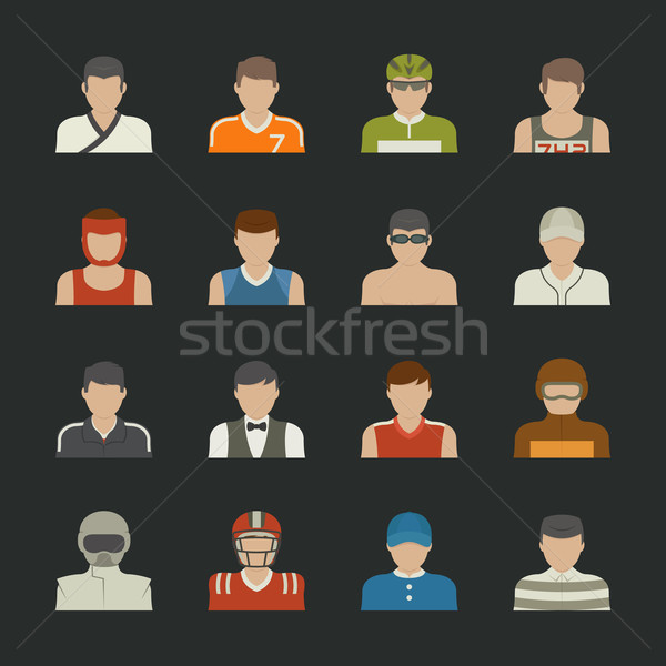 Sport people icon Stock photo © ratch0013