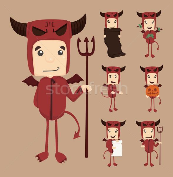 Szett ördög betűk eps10 vektor formátum Stock fotó © ratch0013