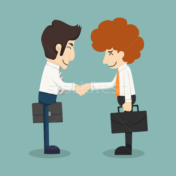 Businessman handshake, businessmen making a deal  Stock photo © ratch0013