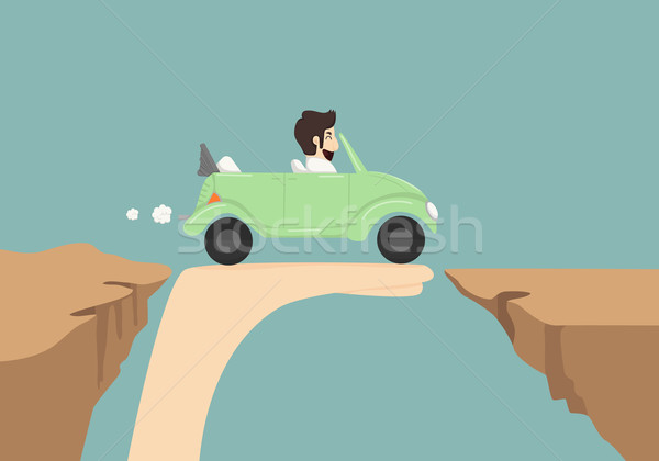 Businessman driving car on hand Stock photo © ratch0013