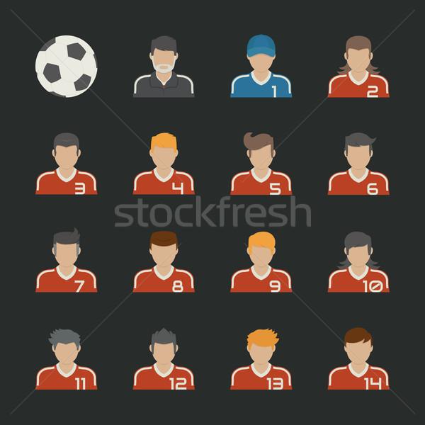 Sport futball ikon szett eps10 vektor formátum Stock fotó © ratch0013
