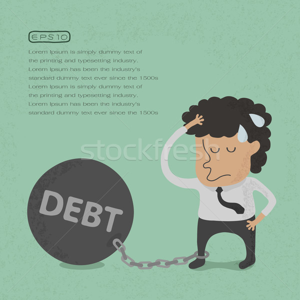 Business man burden with Debt - Vector  , eps10 vector format Stock photo © ratch0013