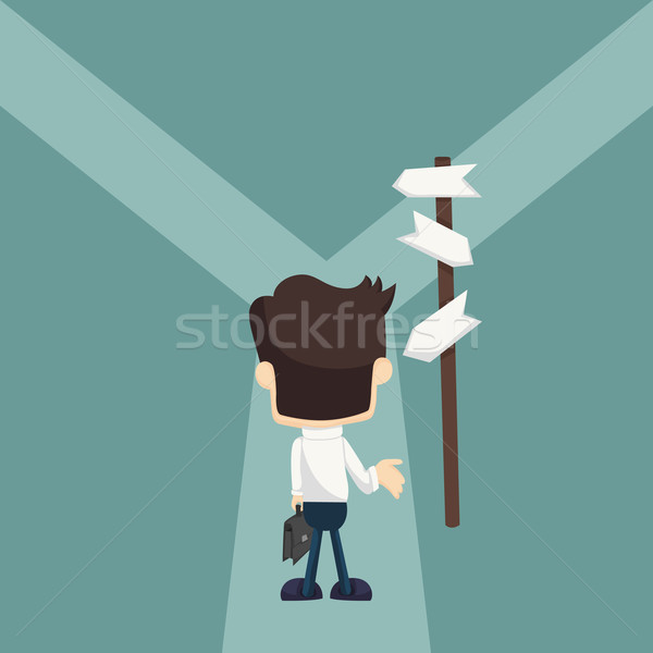 Businessman do not know where to go Stock photo © ratch0013