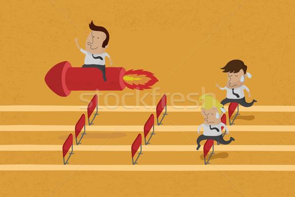 üzlet személyek gól verseny eps10 vektor Stock fotó © ratch0013