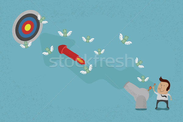 Business people aiming for a high target , eps10 vector format Stock photo © ratch0013