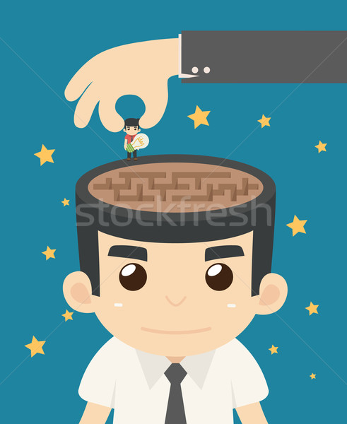 Businessman freedom Stock photo © ratch0013