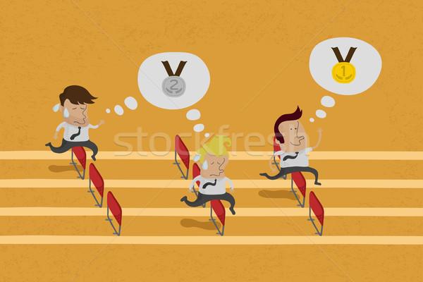 Business doel race eps10 vector Stockfoto © ratch0013