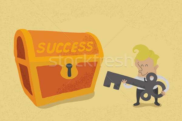 Iş adamı anahtar başarı eps10 vektör format Stok fotoğraf © ratch0013