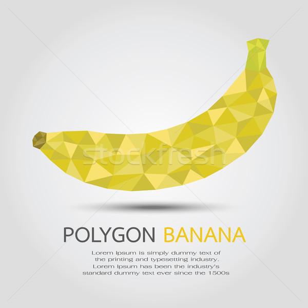 многоугольник банан eps10 вектора формат дерево Сток-фото © ratch0013