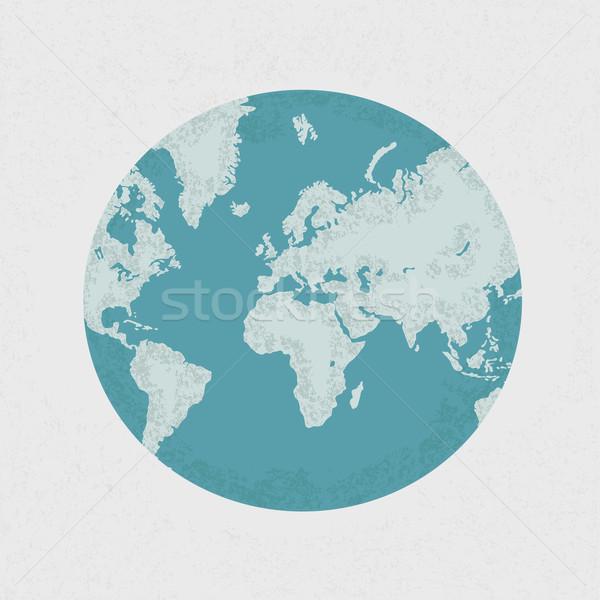 Aarde kaart eps10 vector formaat business Stockfoto © ratch0013
