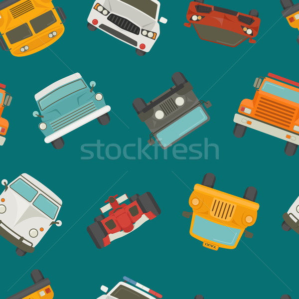 Seamless cars background and pattern  Stock photo © ratch0013