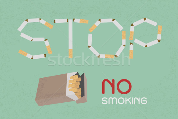 Word Stop made of cigaret stubs , eps10 vector format Stock photo © ratch0013