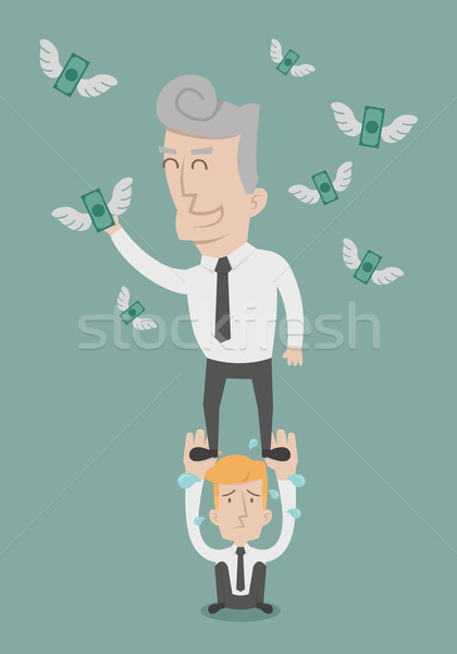 Business people working as a team to grab the money Stock photo © ratch0013