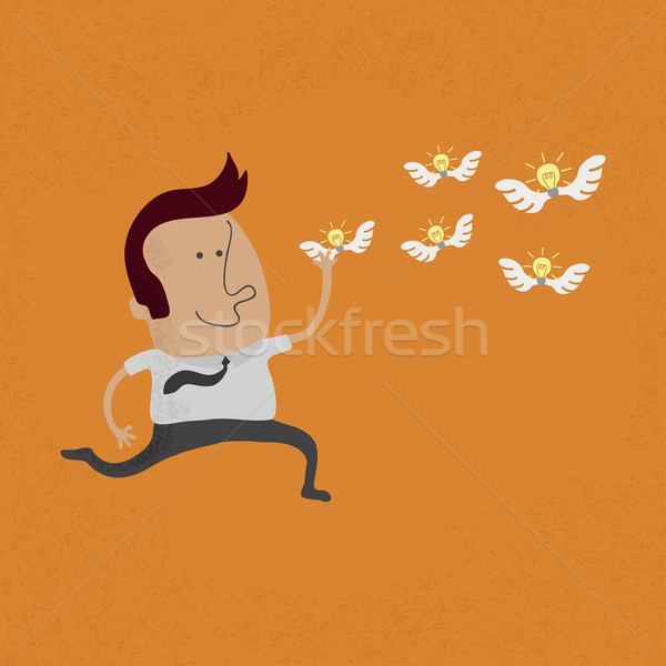 happy man hunting flying ideas  , eps10 vector format Stock photo © ratch0013