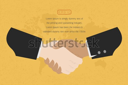 Two business man shakehand  , eps10 vector format Stock photo © ratch0013