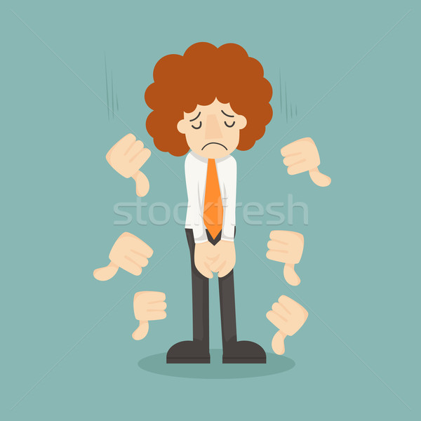 Businessman unlike thumbs down Stock photo © ratch0013