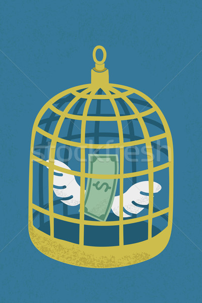 Dollar in golden bird cage , eps10 vector format Stock photo © ratch0013