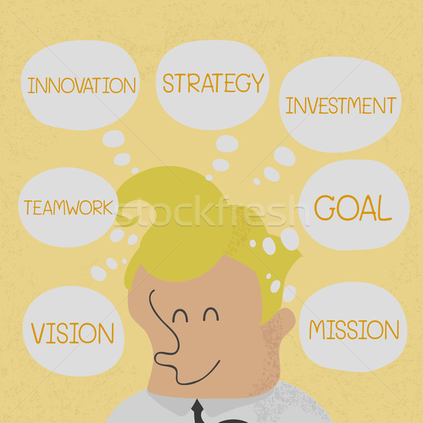 Stock photo: Business man thinking business plan to success , eps10 vector fo