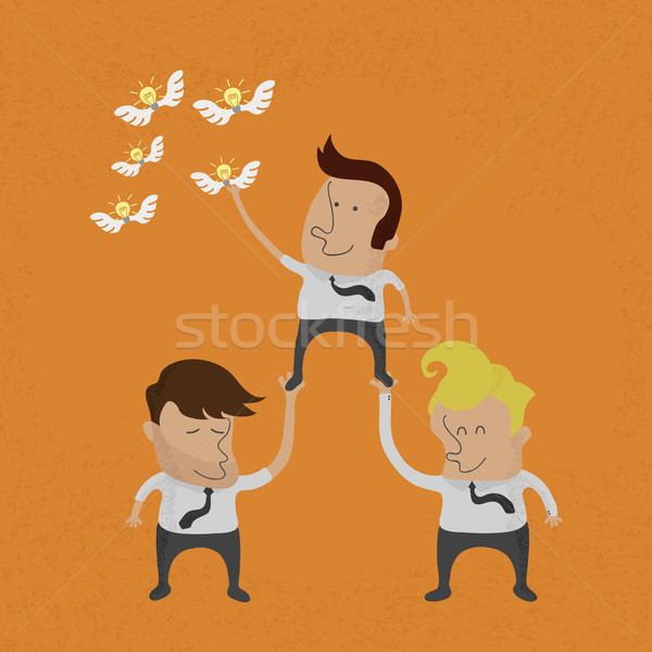 Business people working as a team to grab the Idea , eps10 vecto Stock photo © ratch0013