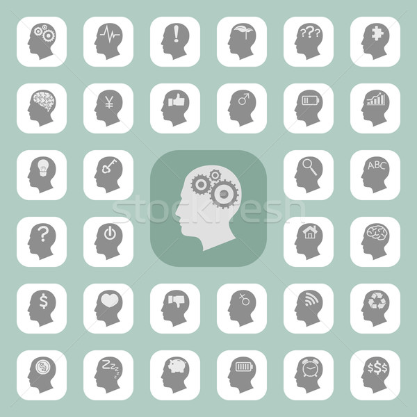 Thinking heads icons  , eps10 vector format Stock photo © ratch0013