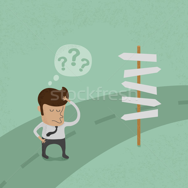 Businessman do not know where to go , eps10 vector format Stock photo © ratch0013