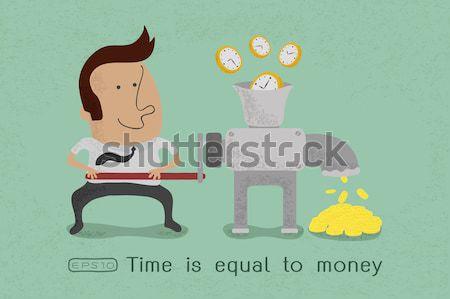 Tiempo igual dinero eps10 vector formato Foto stock © ratch0013