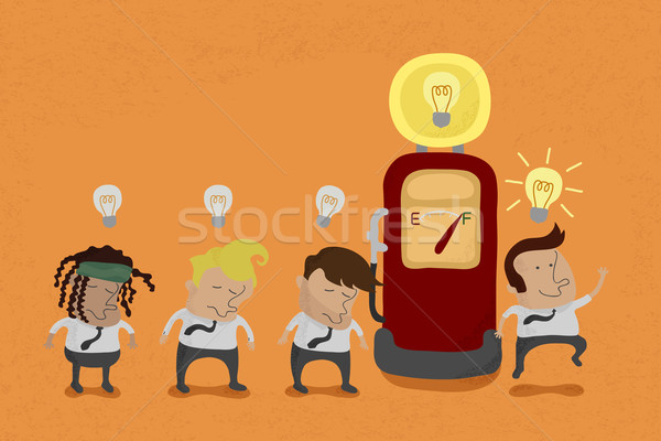 Businessman recharge the Idea , eps10 vector format  Stock photo © ratch0013