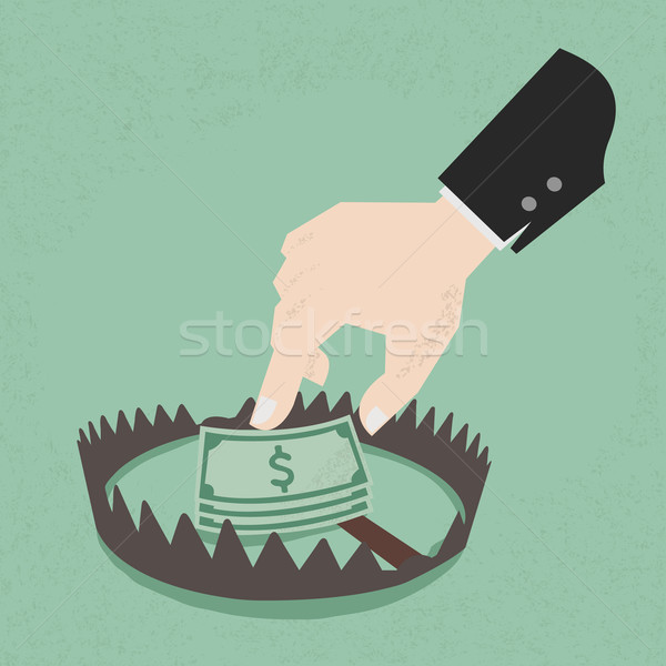 Stock photo: Money trap with hundred dollars, eps10 vector format