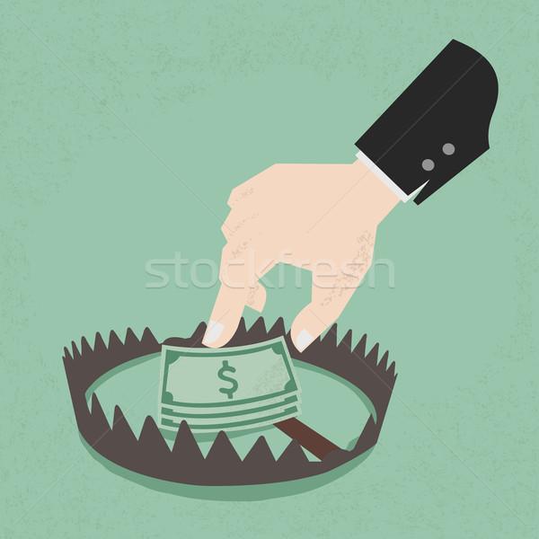 деньги ловушка сто долларов eps10 вектора Сток-фото © ratch0013