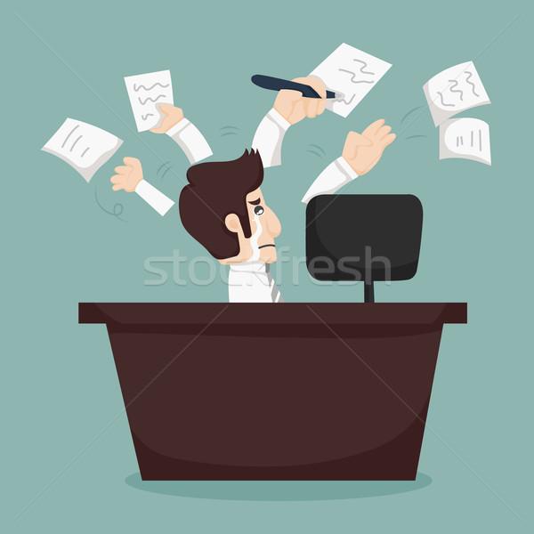 Businessman hard work  Stock photo © ratch0013