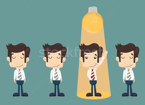 Businessman make idea Stock photo © ratch0013