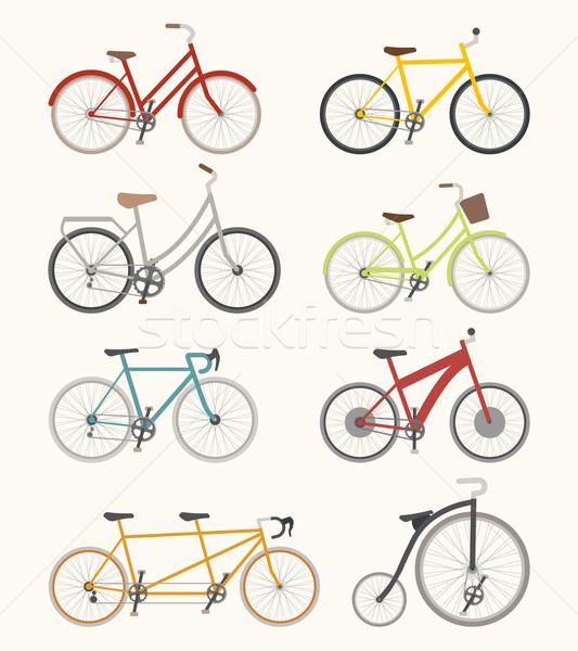 Szett retro bicikli eps10 vektor formátum Stock fotó © ratch0013