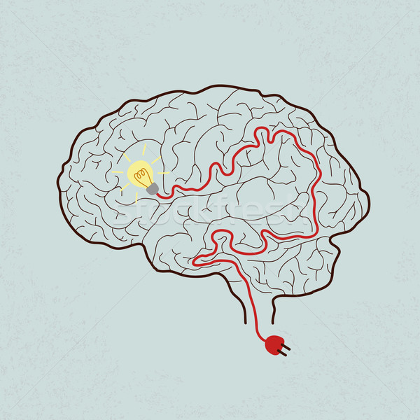 Lightbulb Brain Idea for Ideas or Inspiration , eps10 vector for Stock photo © ratch0013