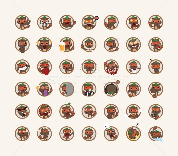 Ingesteld karakter eps10 vector formaat ontwerp Stockfoto © ratch0013