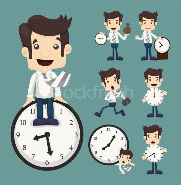 Conjunto empresário relógio eps10 vetor formato Foto stock © ratch0013
