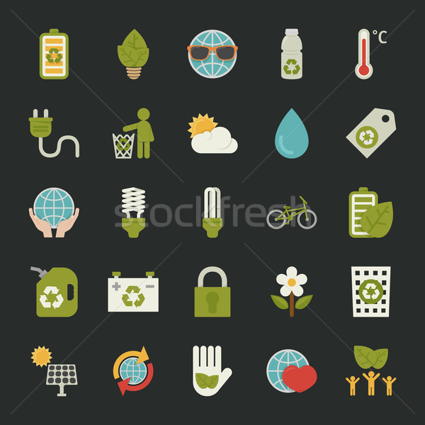 Verde eco eps 10 vector Foto stock © ratch0013