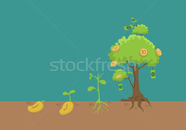 Evrim money tree eps10 vektör format para Stok fotoğraf © ratch0013
