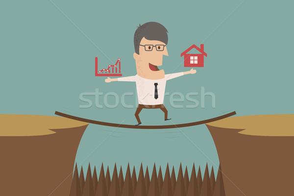 Hombre de negocios riesgo eps10 vector formato trabajo Foto stock © ratch0013