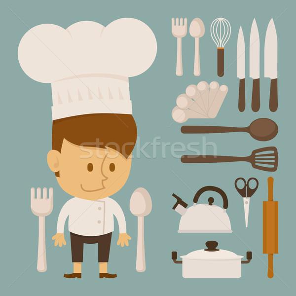 Chef herramienta carácter diseno eps10 vector Foto stock © ratch0013
