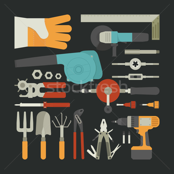 Hand tools ontwerp eps10 vector Stockfoto © ratch0013
