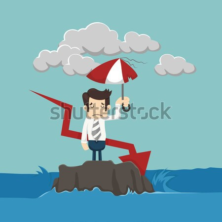 Businessman on a suspended rope Stock photo © ratch0013