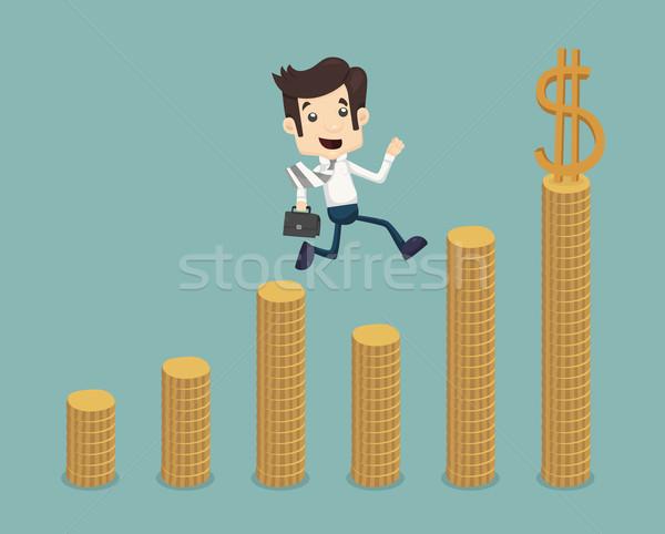 Businessman go to success Stock photo © ratch0013