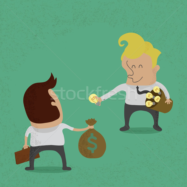 Negocios vender idea eps 10 vector Foto stock © ratch0013